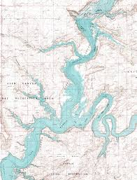 Topographical Map Of Utah by Fred U0027s Guide To Lake Powell Reflection Canyon Area