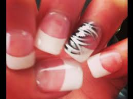 pink zebra nail tip designs for cute girls cute nail designs