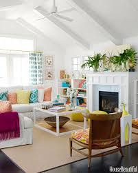 attractive house beautiful living rooms with colorful and retro
