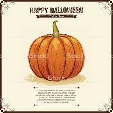 halloween background pumpkin halloween background pumpkin brush painting style stock vector art