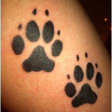 wolf paw prints tattoos on pictures to pin on
