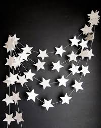 Items similar to White Stars Garland Outer Space Decor Kids