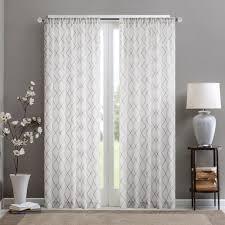 Sheer Window Treatments Park Iris Diamond Sheer Window Curtain