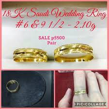 saudi gold wedding ring 18k saudi gold wedding ring pair shopee philippines