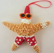 starfish ornaments set of 3 santa by cereusart on etsy