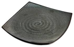 square pearl black plate asian dinner plates by mtc kitchen