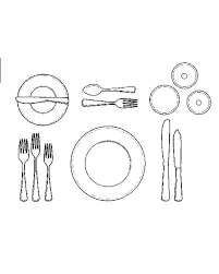 How To Set Silverware On Table How To Set A Formal Dinner Table Martha Stewart