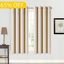 63 Inch Curtains Balichun 2 Panels Blackout Curtains Thermal Insulated