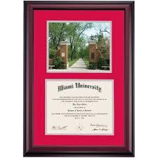 fsu diploma frame miami of ohio diploma frames diploma display ocm