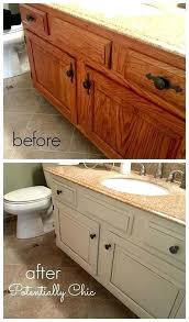 How To Paint Bathroom Cabinets Ideas Paint Ideas For Bathroom Cabinets Bathroom Vanity Makeover With