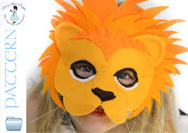 lion mask craft lion mask pattern kids lion costume sewing pattern