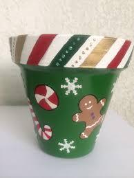 maceta navideña navidad pinterest clay terra cotta and craft