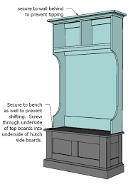 Free Deacon Storage Bench Plans by Diy Free Plans To Build A Hall Tree Simple Step By Step Plans