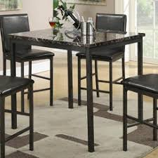 Black Counter Height Dining Table And Chairs - Counter height dining table in black