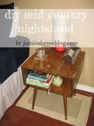 Mid Century Nightstands Diy Mid Century Style Nightstand Jamie U0027s Home Blog