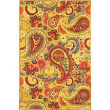 Yellow Area Rug 5x7 Sweet Home Stores Sweet Home Collection Paisley Design Yellow 5 Ft