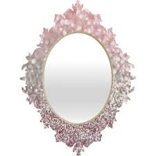 garden ridge wall mirrors lisa argyropoulos girly pink snowfall baroque mirror glitter