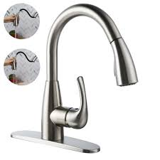 ebay kitchen faucets boharers kitchen faucet with sprayer spray brushed nickel