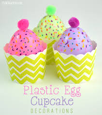 Fun Easter Decorations To Make by Easy Plastic Egg Cupcake Candle Decorations And Treat Cups Club