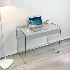petit bureau en verre bureau ordinateur en verre petit bureau verre lepolyglotte avec dans
