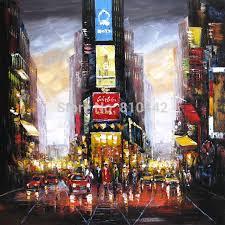 Handmade In New York - palette knife painting modern handmade on canvas new york