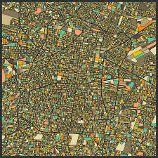 Map Mexico City by Mexico City Map Digital Art By Jazzberry Blue