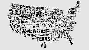 United States Map Black And White by Video Word Cloud Of The United States Map With Alpha Channel In