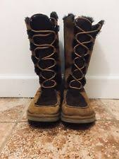 ugg boots womens tularosa chestnut lace up ugg australia solid knee high boots lace up shoes for ebay