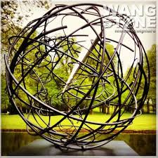 garden ornament stainless steel hollow metal sphere buy hollow