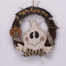 burlap halloween wreath endearing halloween outdoor home decoration introduces picturesque