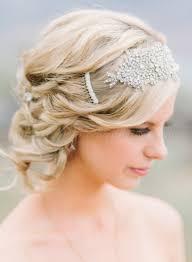wedding hair with headband vintage updo wedding hairstyle with headband for blond hair