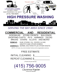 Pressure Washing Estimate by Pressure Washing San Francisco