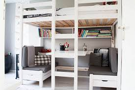 Double Loft Bed Double Loft Bed Rope Ladder Diy Kids Large Size - White bunk beds with desk