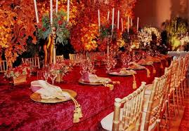Fall Table Decorations For Wedding Receptions - tbdress blog cozy and inspirational autumn themed wedding