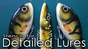 how to make stencils for detailed lures paul adams lure giveaway