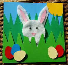 craft magic easter project handmade easter rabbit picture card