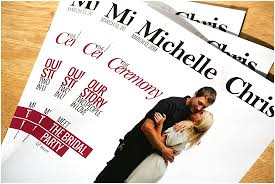 wedding program cover unique wedding programs from milwaukee s the album factory