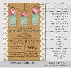 jar bridal shower invitations jar bridal shower invitations templates printable burlap and