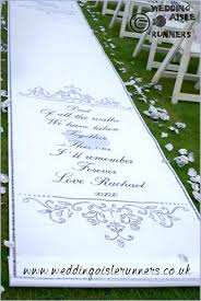 Personalised Wedding Backdrop Uk Entrance End Of The Wedding Aisle Runner Personalised With A