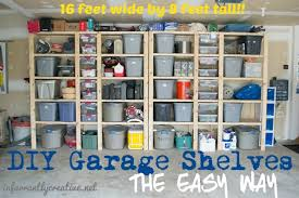 how to build garage shelves infarrantly creative