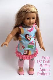 doll ruffle apron pattern pa country crafts