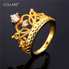 aliexpress promise rings images Collare luxury crown rings for women promise rings gold silver jpg