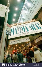exterior of the winter garden theatre at night where mama mia is
