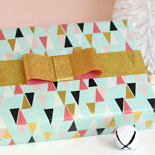 gift wrapping bows diy bows glittery gift wrap idea lou