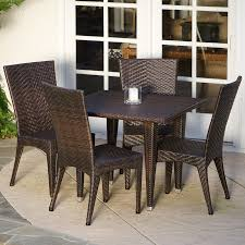 brooke all weather wicker patio dining set seats 6 hayneedle