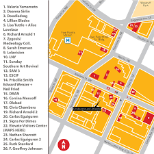 Underground Atlanta Map by Atlanta Office Of Cultural Affairs Elevate 2011