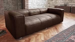 canapé vieilli canapé retro morys 3 5 places aspect cuir vieilli vintage canapes