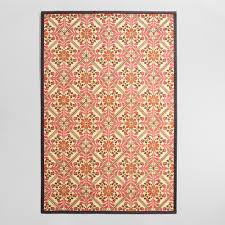 hoops and yoyo thanksgiving 4 u0027x6 u0027 red and orange floral bamboo area rug world market