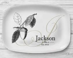 monogrammed serving platter personalized serving tray ivory family name platter