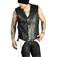 leather biker vest daryl dixon vest walking dead daryl vest jacket black